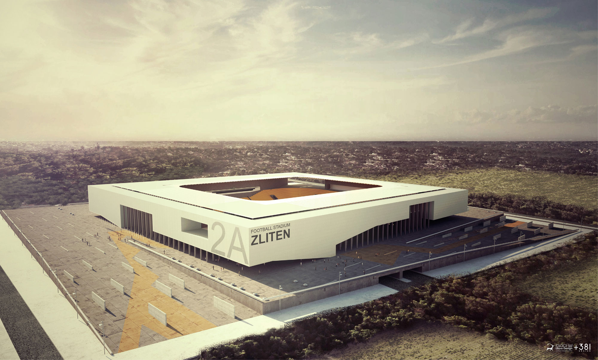 libya design Football Stadium Zliten  01
