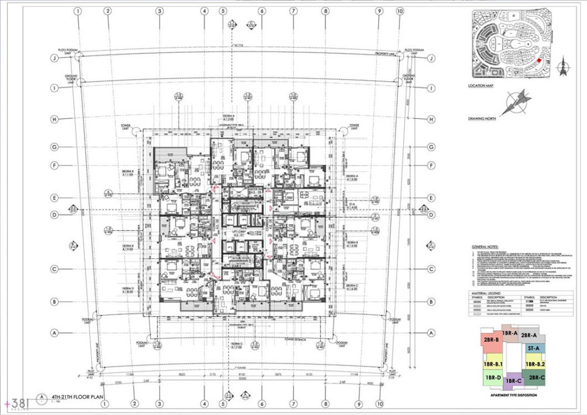 Residential_Tower_Dubai_United_Arab_Emirates_Plus_381_layout_design_architecture_05