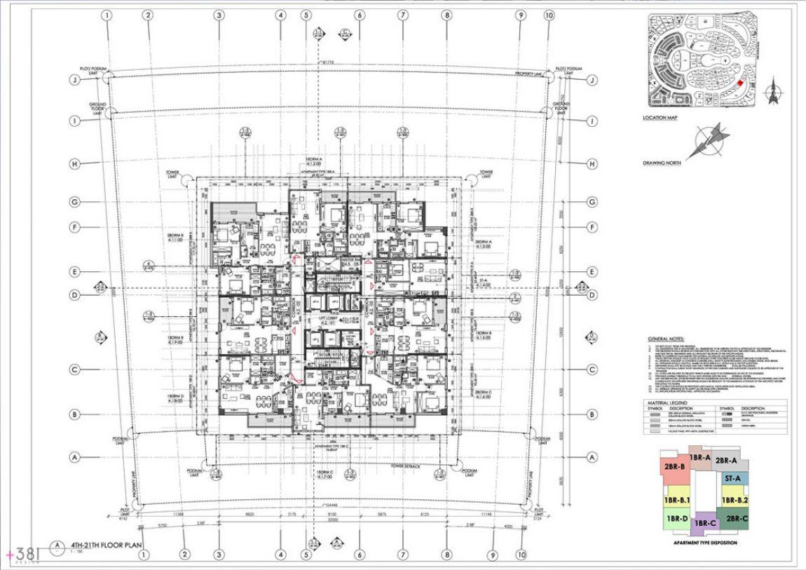 Residential_Tower_Dubai_United_Arab_Emirates_Plus_381_layout_design_architecture_05